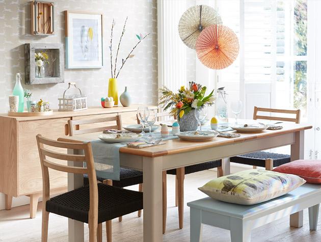 Light wood dining room